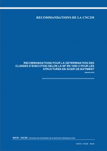 Recommandations_classes d'exécution NF EN 1090-2